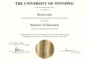 UofW - Bachelor of Education